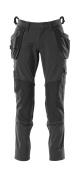18031-311-09 Spodnie z kieszeniami wiszącymi - czerń