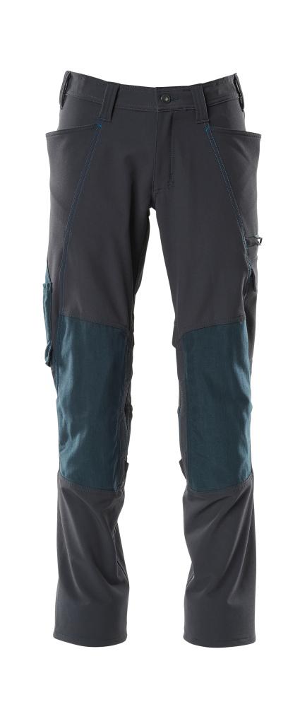 18079-511-010 Spodnie z kieszeniami na kolanach - ciemny granat