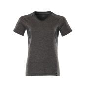 18092-801-1809 T-Shirt - ciemny nakrapiany antracyt/czerń
