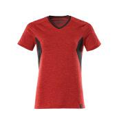 18092-801-20209 T-Shirt - czerwień nakrapiany kubańska/czerń