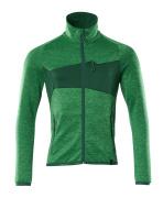 18103-316-33303 Bluza polarowa z zamkiem błyskawicznym - zielona trawa/zieleń