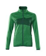 18153-316-33303 Bluza polarowa z zamkiem błyskawicznym - zielona trawa/zieleń