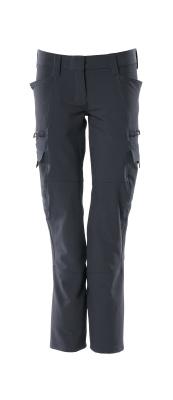 18188-511-010 Spodnie z kieszeniami na udach - ciemny granat