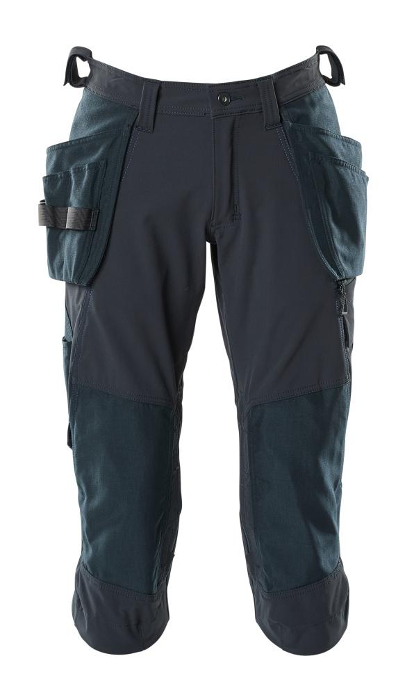 18249-311-010 Spodenki ¾ z kieszeniami na kolanach i kieszeniami wiszącymi - ciemny granat