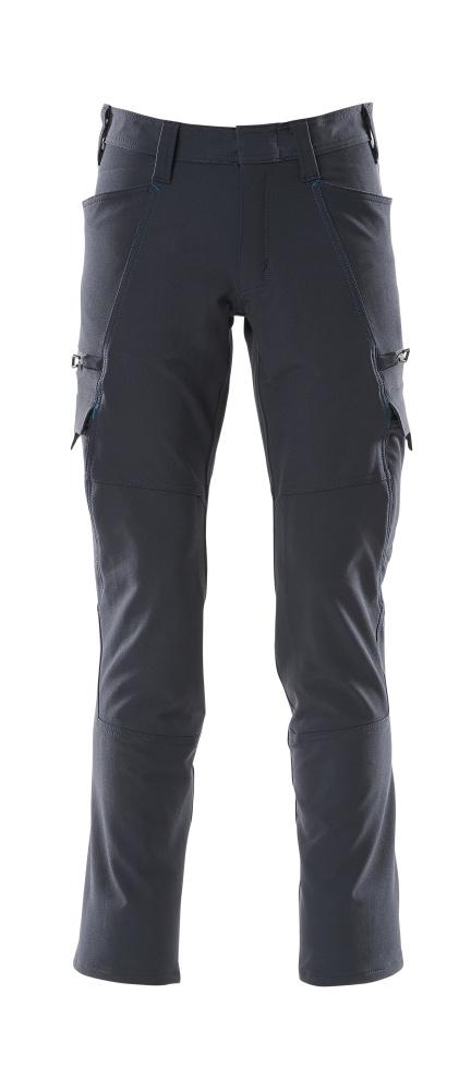 18279-511-010 Spodnie z kieszeniami na udach - ciemny granat