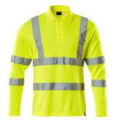 18283-995-17 Koszulka Polo, długimi rękawami - żółty hi-vis