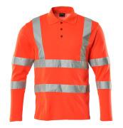 18283-995-14 Koszulka Polo, długimi rękawami - pomarańcz hi-vis
