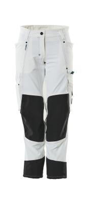 18378-311-06 Spodnie z kieszeniami na kolanach - biel