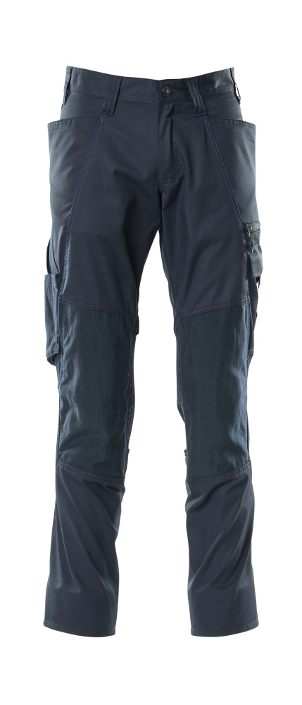 18379-230-010 Spodnie z kieszeniami na kolanach - ciemny granat