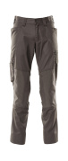 18379-230-18 Spodnie z kieszeniami na kolanach - ciemny antracyt