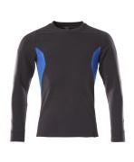 18384-962-01091 Sweter - ciemny granat/błękitny