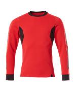 18384-962-20209 Sweter - czerwień kubańska/czerń