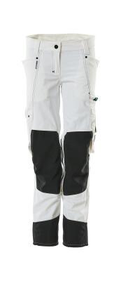 18388-311-06 Spodnie z kieszeniami na kolanach - biel