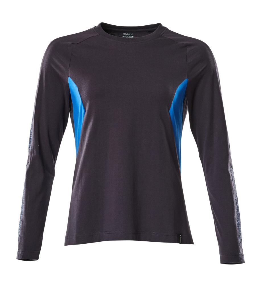 18391-959-01091 T-Shirt, długimi rękawami - ciemny granat/błękitny