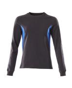 18394-962-01091 Sweter - ciemny granat/błękitny