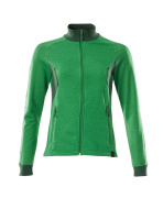 18494-962-33303 Bluza z zamkiem błyskawicznym - zielona trawa/zieleń