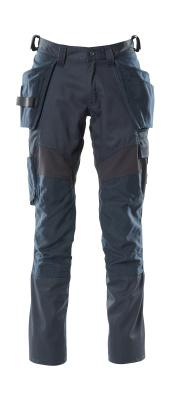 18531-442-010 Spodnie z kieszeniami na kolanach i kieszeniami wiszącymi - ciemny granat
