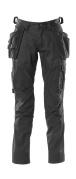 18531-442-09 Spodnie z kieszeniami na kolanach i kieszeniami wiszącymi - czerń