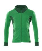 18584-962-33303 Bluza z Kapturem z zamkiem błyskawicznym - zielona trawa/zieleń