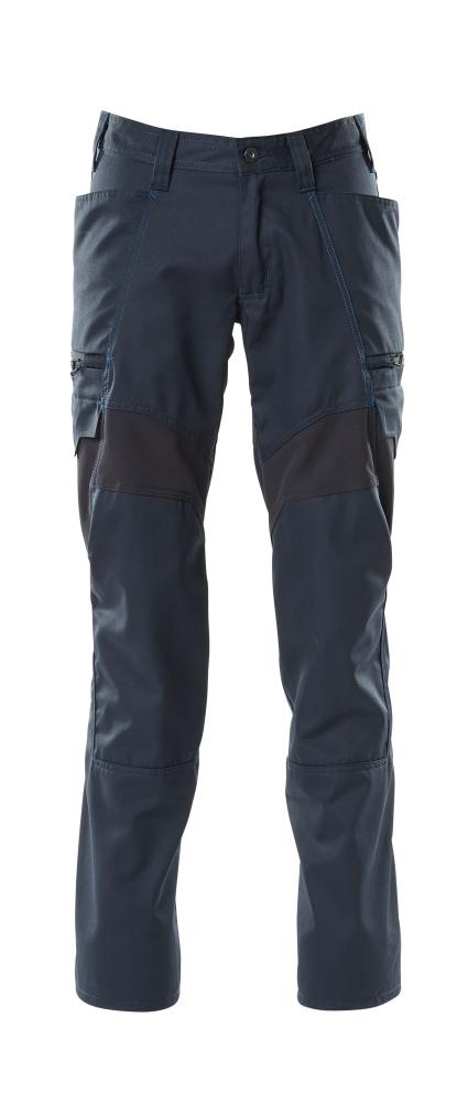 18679-442-010 Spodnie z kieszeniami na udach - ciemny granat