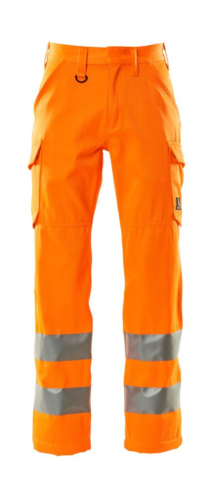 18879-860-14 Spodnie z kieszeniami na udach - pomarańcz hi-vis