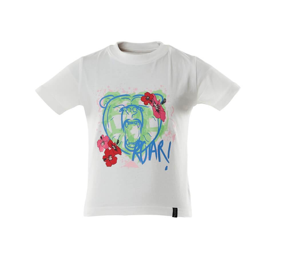 18992-965-06 T-shirt dla dzieci - biel