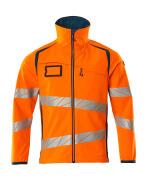 19002-143-1444 Kurtka softshell - pomarańcz hi-vis/ciemna petrolowy
