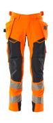 19031-711-14010 Spodnie z kieszeniami wiszącymi - pomarańcz hi-vis/ciemny granat