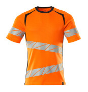 19082-771-14010 T-Shirt - pomarańcz hi-vis/ciemny granat