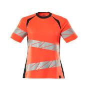 19092-771-14010 T-Shirt - pomarańcz hi-vis/ciemny granat