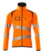 19103-315-14010 Bluza polarowa z zamkiem błyskawicznym - pomarańcz hi-vis/ciemny granat