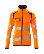 19153-315-14010 Bluza polarowa z zamkiem błyskawicznym - pomarańcz hi-vis/ciemny granat