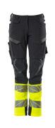 19178-511-01014 Spodnie z kieszeniami na kolanach - ciemny granat/pomarańcz hi-vis