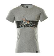 19182-965-0814 T-Shirt - szary nakrapiany/pomarańcz hi-vis