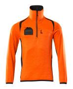 19303-316-14010 Bluza polarowa z krótkim zamkiem błyskawicznym - pomarańcz hi-vis/ciemny granat