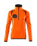 19353-316-14010 Bluza polarowa z krótkim zamkiem błyskawicznym - pomarańcz hi-vis/ciemny granat