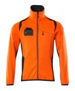 19403-316-14010 Bluza polarowa z zamkiem błyskawicznym - pomarańcz hi-vis/ciemny granat