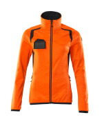 19453-316-14010 Bluza polarowa z zamkiem błyskawicznym - pomarańcz hi-vis/ciemny granat
