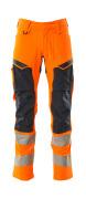 19479-711-14010 Spodnie z kieszeniami na kolanach - pomarańcz hi-vis/ciemny granat