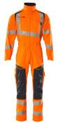 19519-236-14010 Kombinezon z kieszeniami na kolanach - pomarańcz hi-vis/ciemny granat