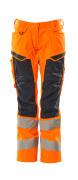 19578-236-14010 Spodnie z kieszeniami na kolanach - pomarańcz hi-vis/ciemny granat