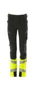 19979-311-0917 Spodnie dla dzieci - czerń/żółty hi-vis