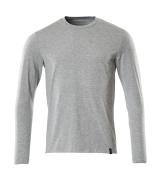 20181-959-08 T-Shirt, długimi rękawami - szary nakrapiany