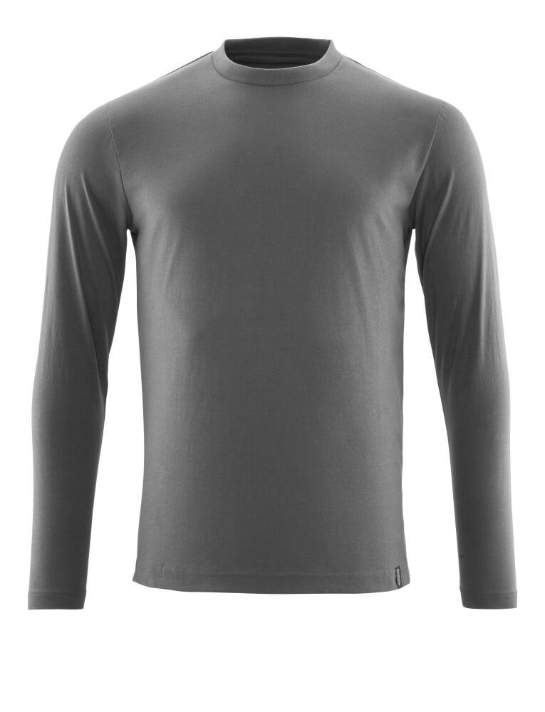 20181-959-18 T-Shirt, długimi rękawami - ciemny antracyt
