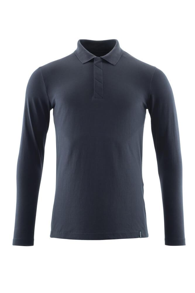20483-961-010 Koszulka Polo, długimi rękawami - ciemny granat
