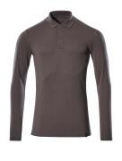 20483-961-18 Koszulka Polo, długimi rękawami - ciemny antracyt