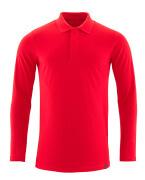 20483-961-202 Koszulka Polo, długimi rękawami - czerwień kubańska