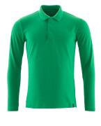 20483-961-333 Koszulka Polo, długimi rękawami - zielona trawa