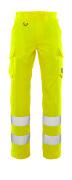 20859-236-17 Spodnie z kieszeniami na udach - żółty hi-vis