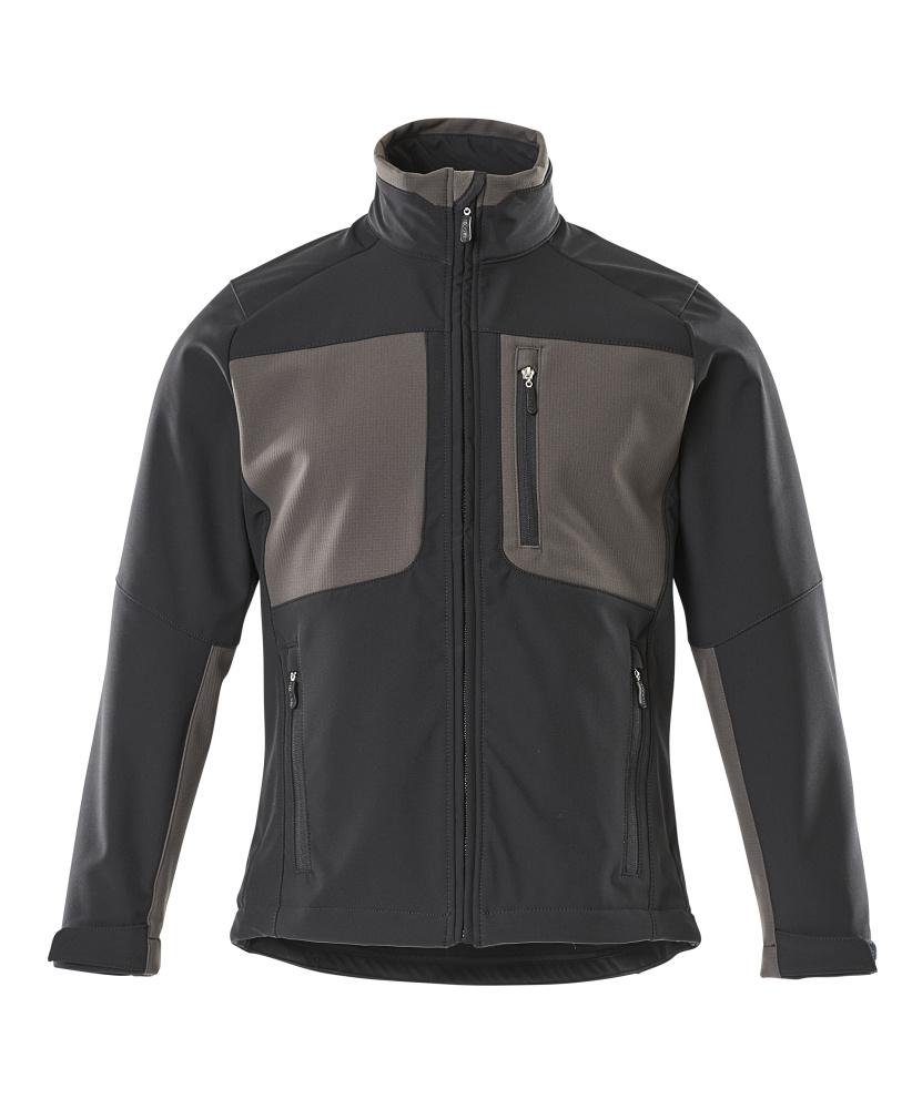50057-824-0918 Kurtka softshell - czerń/ciemny antracyt